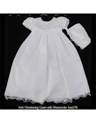 christening gown w shamrocks celtic