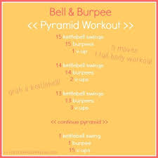 bell bur pyramid workout