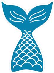 Hand Drawn Silhouette Of Mermaid Tail Sticker