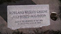 Rowland Wesley Greene (1925-1939) - Find A Grave Memorial