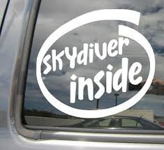 Skydiver Inside Skydiving Parachuting Car Window Vinyl Decal Sticker 10549 Ebay