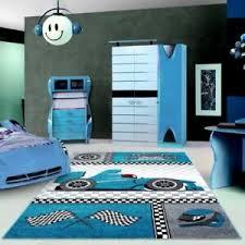 Kids Car Rug Boys Bedroom Play Room Mat Childrens Carpet Mats Small Large Blue Ebay