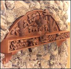 carved wood fireplace mantels
