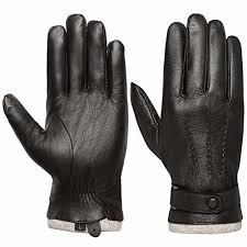 touchscreen genuine leather gloves