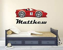 Kids Children S Bedroom Decal Personalised Lamborghini Wall Decal Sticker