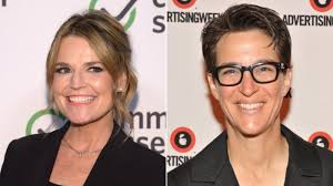 Savannah Guthrie and Rachel Maddow clashed