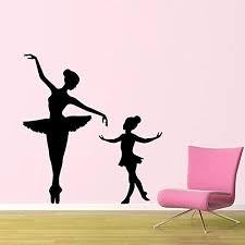 Amazon Com Banytree Vinyl Wall Sticker Decal Big Ballerina Little Ballerina Wall Decal Kids Nursery Girls Room Vinyl Ballet Wall Adhesive Interior Art Mural 42 75cm Home Kitchen