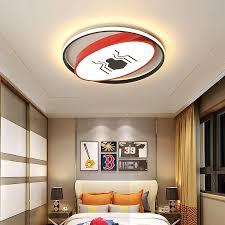 Modern Led Ceiling Light Round Black Red Children Room Lights For Bedroom Kids Baby Boys Home Lighting Ac85 265v Ceiling Lamp Ceiling Lights Aliexpress