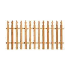 Spaced Picket Paintable 3 5 Wood Fence Panels Wood Fencing The Home Depot