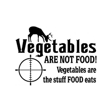 Vegetables Are Not Food Decal Sticker