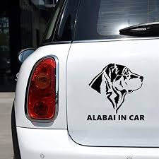 Amazon Com Na Stickers Car Alabai In Car Car Sticker Auto Funny Decal Dog Car Home Kitchen