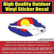 Amazon Com Colorado Flag Lips Vinyl Car Window Laptop Bumper Sticker Decal Clothing