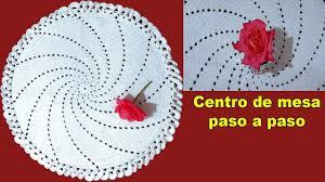 tapete o centro de mesa a crochet paso
