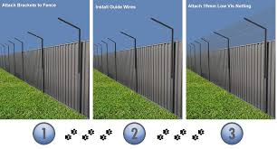 The Angled Fence Brackets Can Be Used To Raise The Height Of Your Existing Fence Before Attaching The Netting To The House De Cat Fence Fence Building A Fence