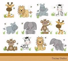 Safari Animals Decal Decor Kids Wall Art Stickers Etsy