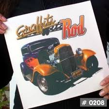 Vintage Hotrod Cars Iron On Decals 24 Designs