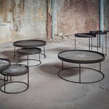 ethnicraft round tray table set