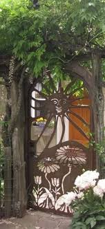 charming stickwork rustic garden gates