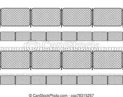 Set Of Chain Link Fence With Barbed Wire Black Seamless Silhouettes Isolated On White Set Of Chain Link Fence With Barbed