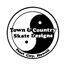 Town Country Skateboard Vinyl Decal