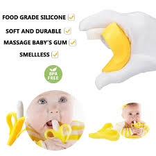 Compare Safe Baby Teether Toys Toddle BPA Free Banana Teething Ring  Silicone Chew Dental Care Toothbrush Nursing Beads Gifts For Infant Price  In Singapore - Best Buy in Singapore