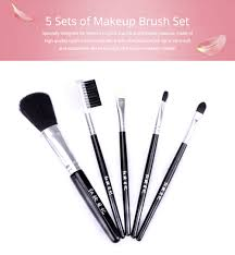 5 sets of makeup brush set with texture