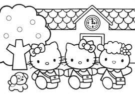 Hallo Kitty Vrienden Kleurplaat Gratis Kleurplaten Printen
