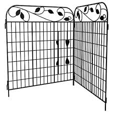 Amagabeli Decorative Garden Fence 36x 44 X 2 Panels Metal Wire Fencing Outdoor Patio Decor Landscape Folding Black Wrought Iron Border Edging Section Flower Bed Animal Barrier For Dog No Dig Fences