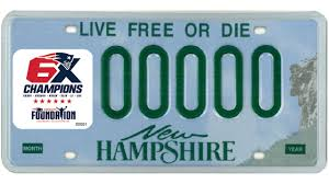 Patriots Unveil New Hampshire License Plate Decal Stickers