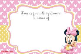 Free Printable Minnie Mouse 1st Invitation Templates