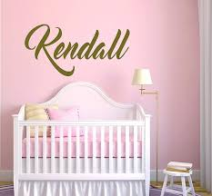 Amazon Com E Graphic Design Inc Custom Name Master Gold Series Wall Decal Nursery Baby Boy Girl Decoration Mural Wall Decal Sticker For Home Interior Decoration Car Laptop Mm37 Wide 22 X