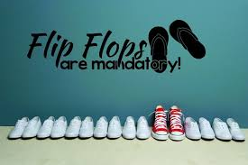 Decal Flip Flops Are Mandatory Quote 20x30 Beach Style Wall Decals By Design With Vinyl