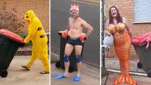 Aussies in coronavirus lockdown are dressing up for bin day