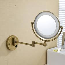 led antique brass cosmetic mirror wall