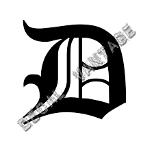 Dv Old English D Letter Initial Vinyl Sticker Decal Font Diploma Choose Size Color