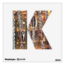 Letter K Decal Chandelier Glass Zazzle Com