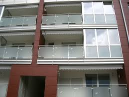 glass panel balcony stainless steel