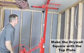how to hang drywall on ceilings home