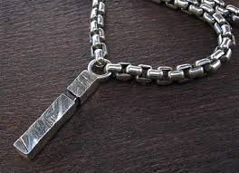 men s silver chain necklace pendant
