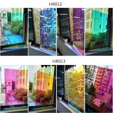 China Holographic Decorative Iridescent Window Film Adhesive Glass Film Chameleon Rainbow Effect For Home Decal Diy Christmas Party Decoration China Holographic Window Film Rainbow Window Film