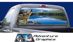 Vehicle Graphics Rear Window Graphics Wolf Rear Window Graphic