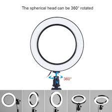 Đèn LED chụp ảnh dạng vòng tròn đường kính 4.7/3.5 inch với 3 chế độ sáng  tiện dụng giảm chỉ còn 218,781 đ