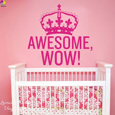 Awesome Wow King George Crown Wall Sticker Baby Nursery Bedroom Family Love Inspiration Quote Wall Decal Car Window Vinyl Decor Quote Wall Decal Crown Wall Stickerwall Stickers Baby Nursery Aliexpress