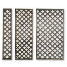 Wooden 1 8m High Lattice Panels Trellis Outdoor Garden Fence Fencing Wall Ebay