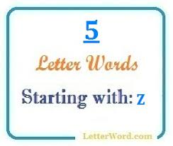five letter words starting with z for