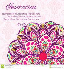 Invitation Mandala Card Stock Vector Illustration Of Frame 53819075