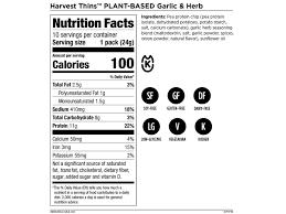 harvest thins a 100 calorie plant