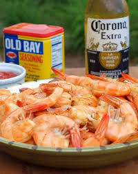 l n eat shrimp with homemade