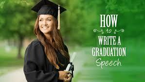 how to write a graduation speech
