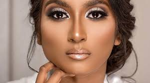 makeup looks for black brides